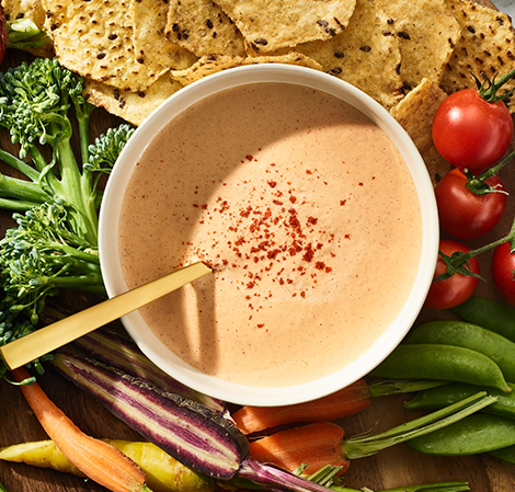 Bowl of Cashew Queso: Healthy Dips and Snacks