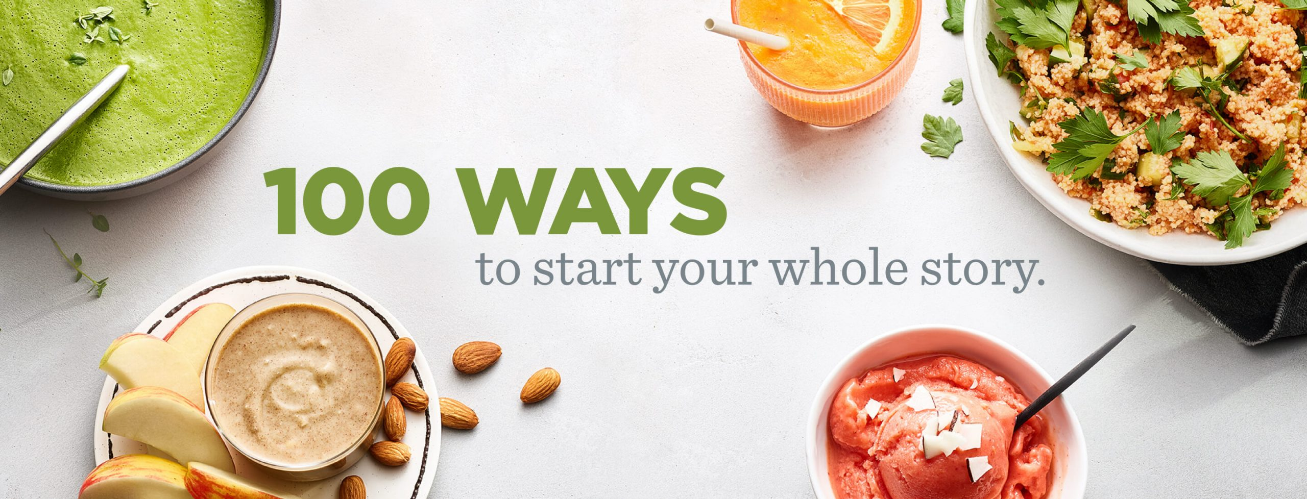 vitamix 100 ways to start your whole journey banner image
